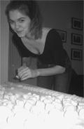 Madeline preparing gnocchi