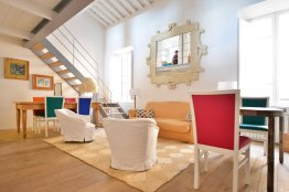 Trastevere terrace loft: Up to 4+1 people
