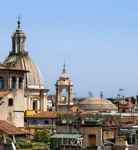 Navona penthouse with terrace and views, Rome