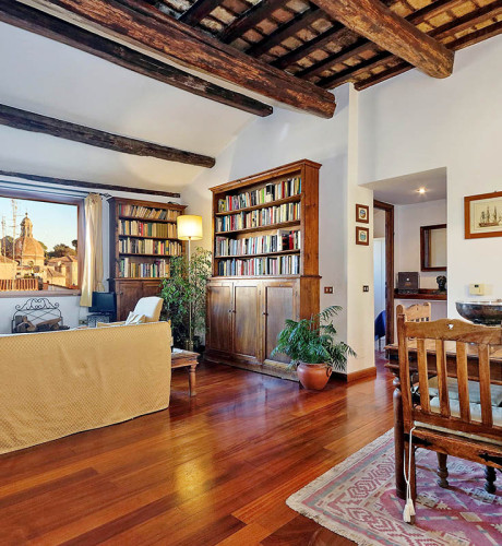 Piazza Mattei terrace apartment: Up to 2 people