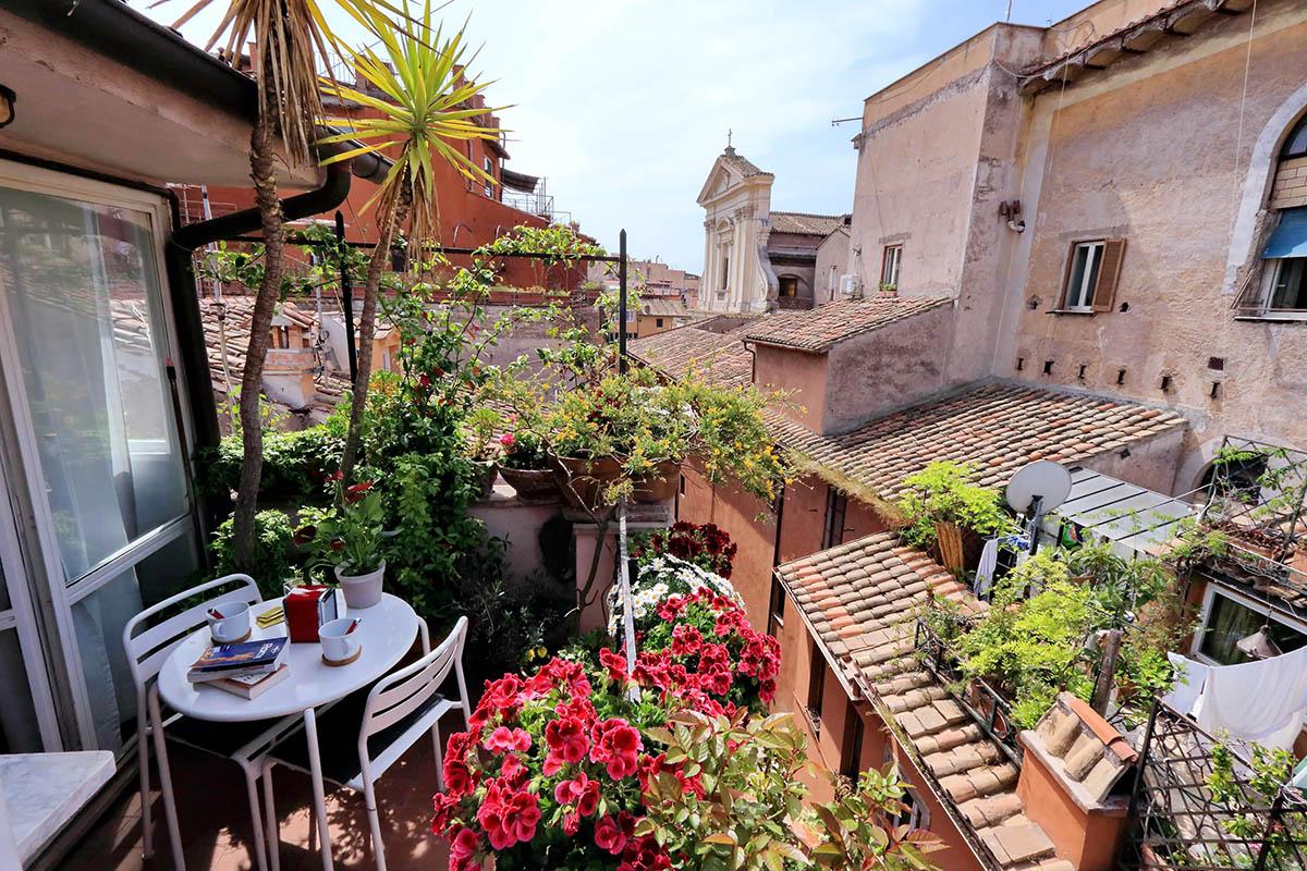 Studio de luxe avec terrasse a louer Rome - Trastevere