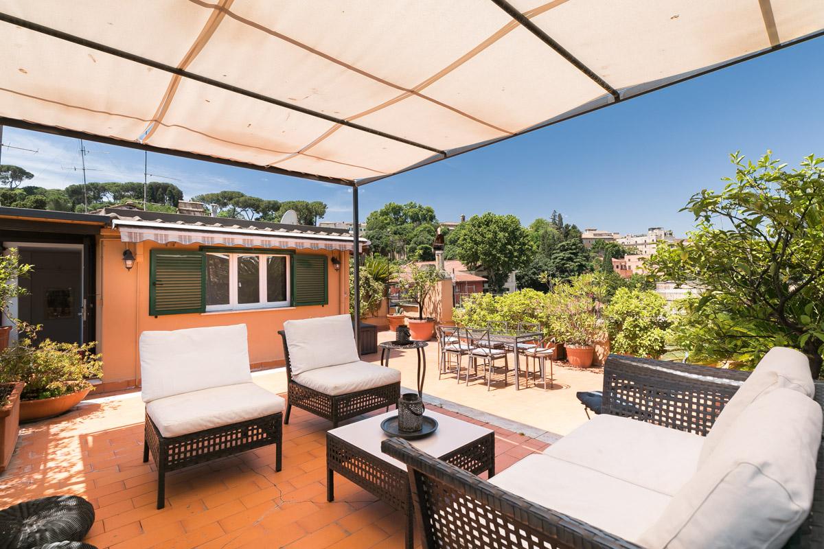 Trastevere Terrace Penthouse Rome Apartments Rental