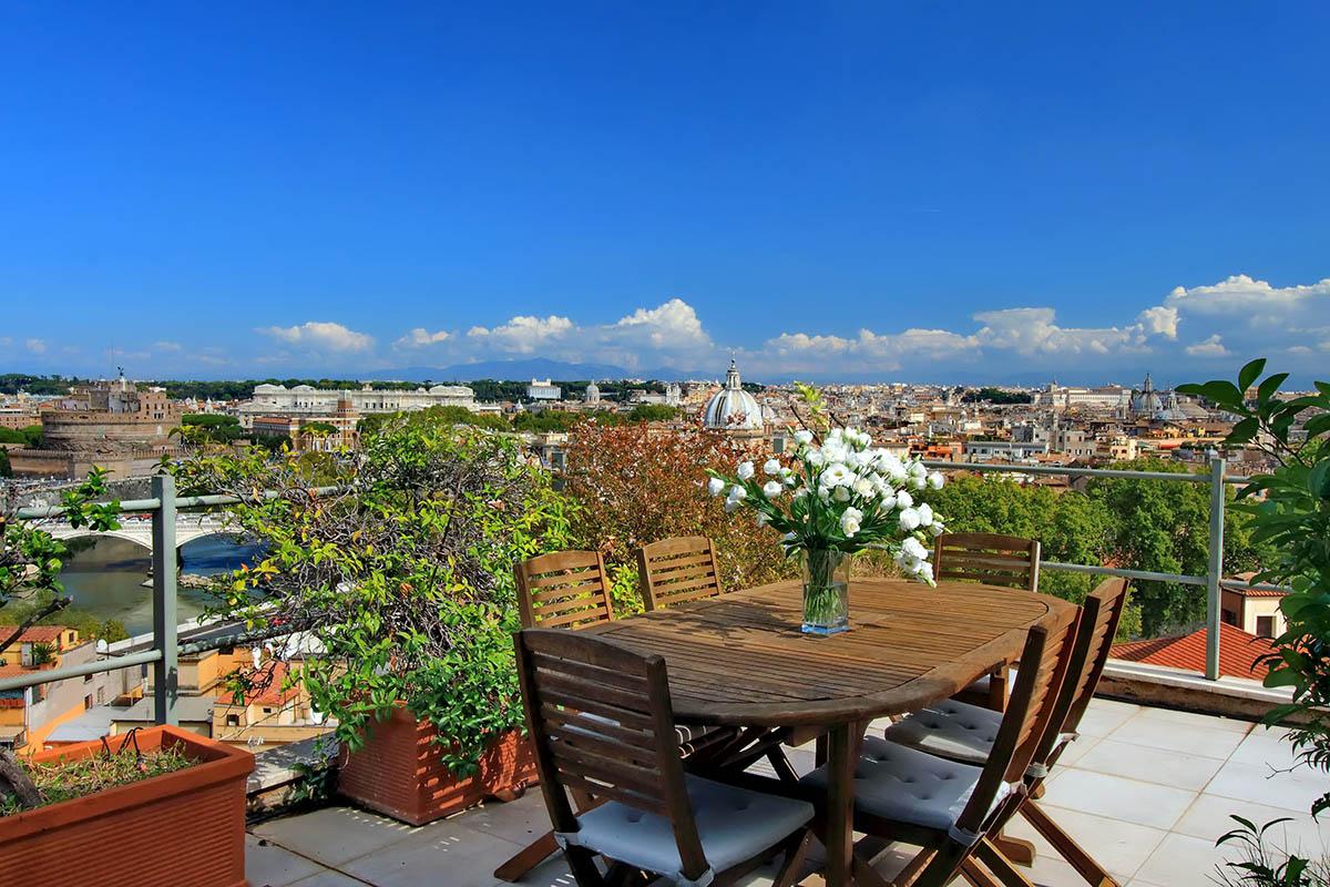 Rome appartement louer avec terrasses et vues incroyables for Appartement et terrasse
