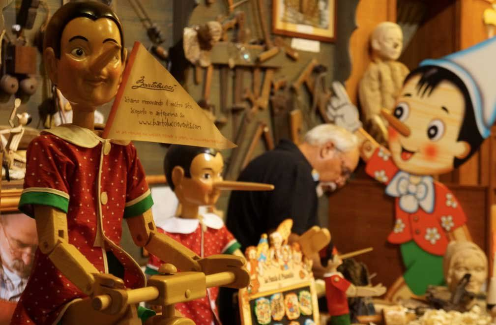 Pinocchio shop in Rome