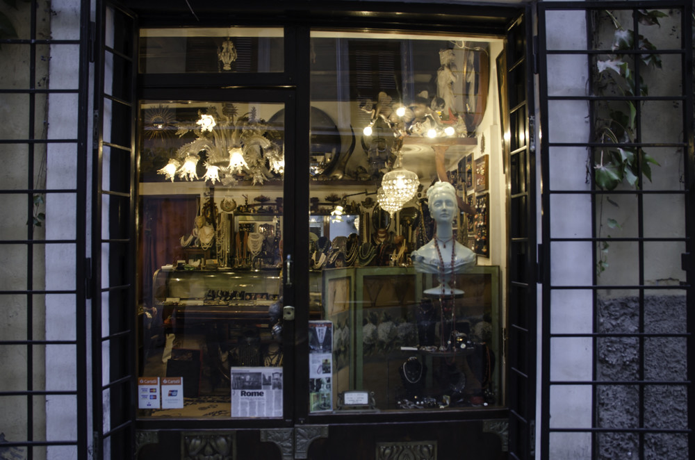 Window of the vintage store