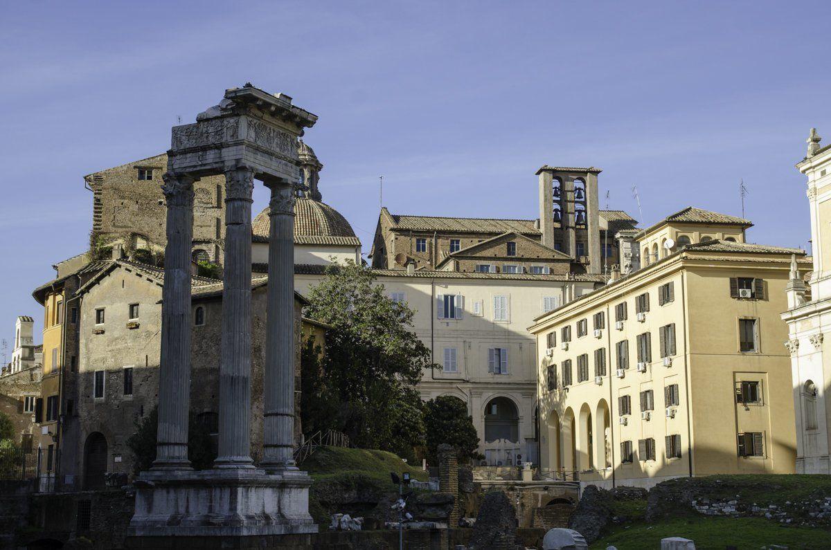 Ancient Roman Ruins Next to jewish Ghetto