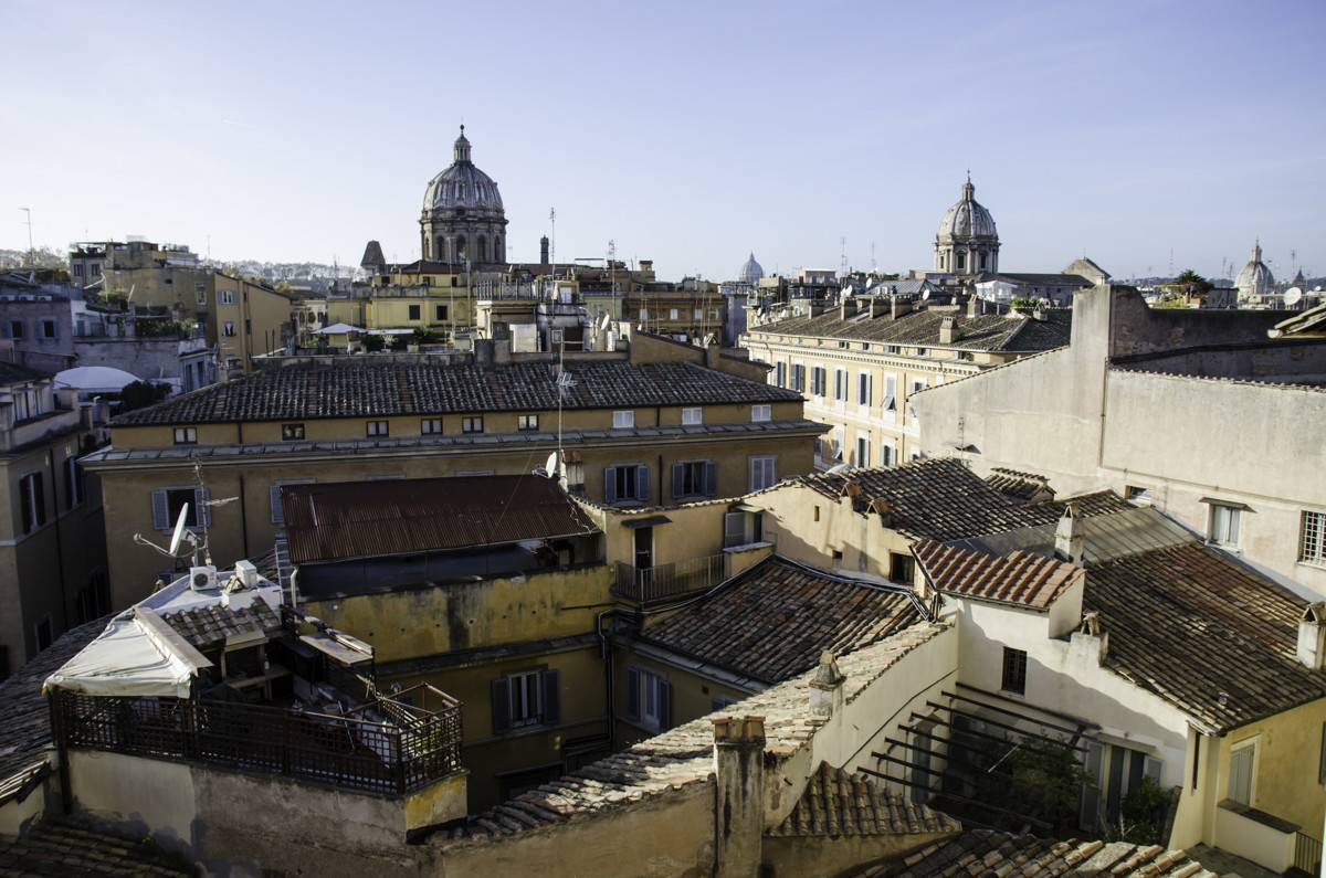 View over the roofs of the ghetto