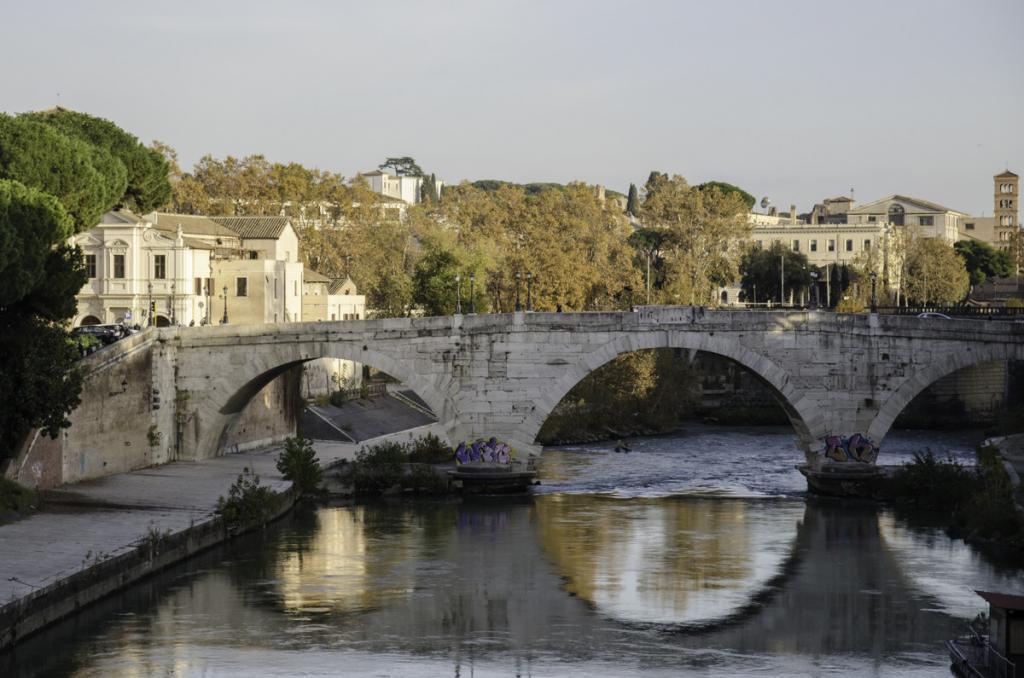 Pons Cestius over Tiber