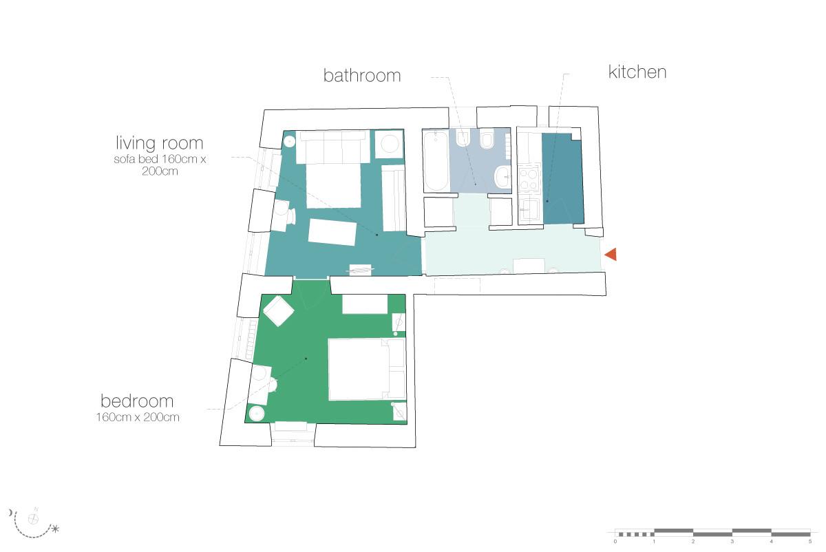 Trevi Stylish Apartment Rome Vacation Rental 4 People